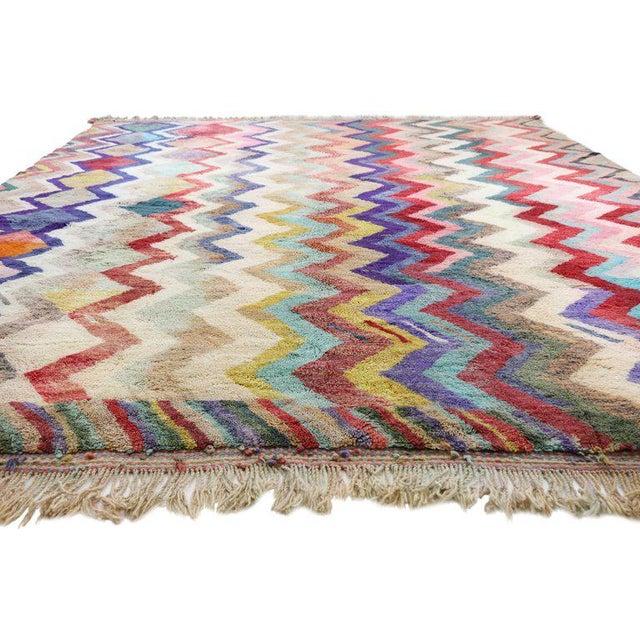 Contemporary Missoni Style Moroccan Berber Rug - 10′6″ × 13′4″ For Sale In Dallas - Image 6 of 9
