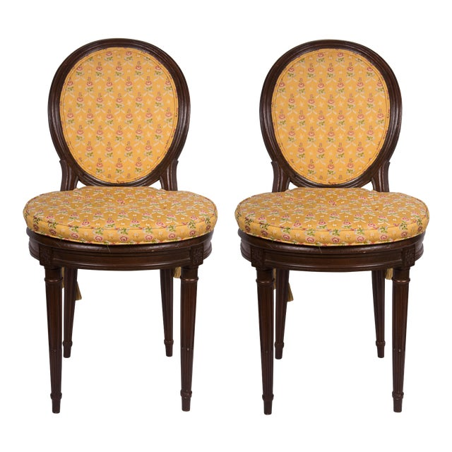 19th Century Walnut Caned Musician's Chairs For Sale