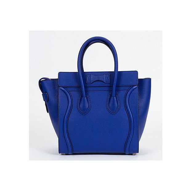 Celine New Indigo Micro Luggage Bag For Sale - Image 9 of 10