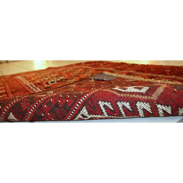 1920s Antique Afghan Adraskand Hand Made Prayer Rug - 2'7'' X 3'7'' For Sale - Image 7 of 10