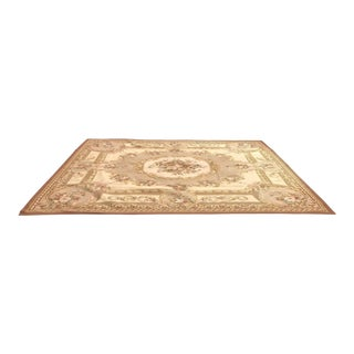 Handwoven French Provincial Wool Area Rug 8″ × 10″ For Sale