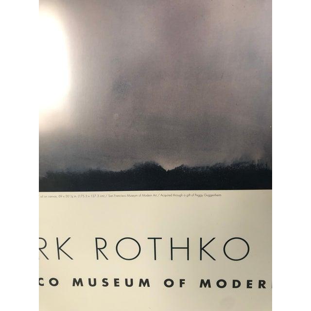 Mark Rothko 1960s Vintage Rothko Museum Framed Poster Print For Sale - Image 4 of 7