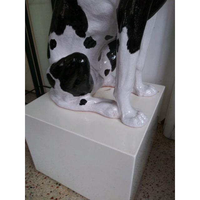 Italian Ceramic Life Size Great Dane Sculpture For Sale - Image 11 of 12