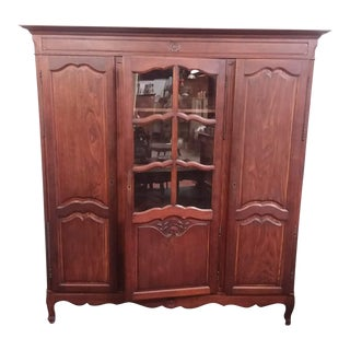 Antique Triple Door Bookcase For Sale