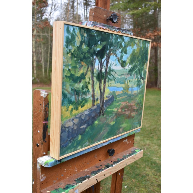"""2020s """"River View"""" Contemporary Landscape AcrylicPainting by Stephen Remick, Framed For Sale - Image 5 of 10"""