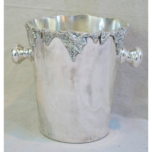 Silver-Plate Champagne Bucket with Grape Motif - Image 2 of 7