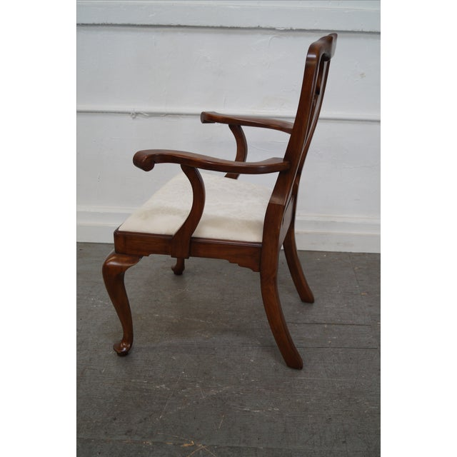 Henkel Harris Cherry Wood Queen Anne Chairs - 6 - Image 5 of 10