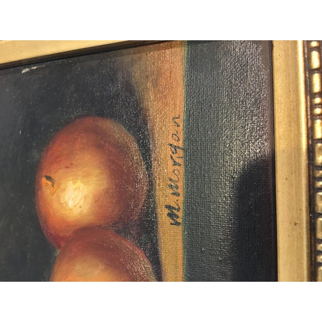 Traditional 1960s Vintage M . Morgan Still Life Oil on Canvas Painting For Sale - Image 3 of 7