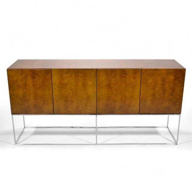 Milo Baughman Olive Ash Burl Credenza by Thayer Coggin For Sale - Image 10 of 10
