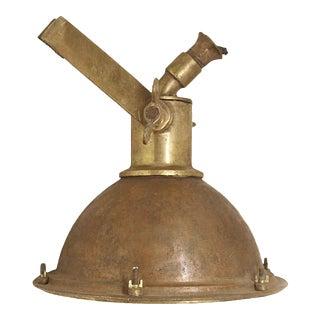 Salvaged Brass Nautical Spot Light For Sale