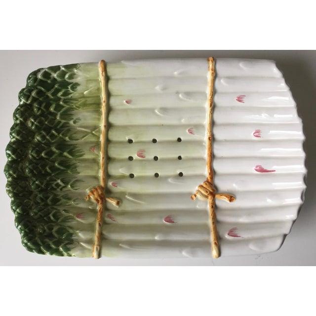 Italian Italian Faience Asparagus Dish & Platter For Sale - Image 3 of 13