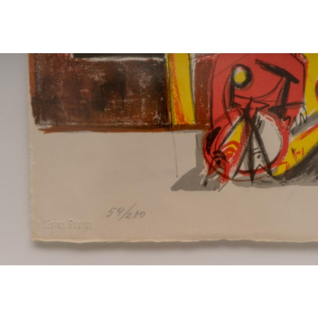 Mid-Century Modern 1940s Lithograph After Edouard Pignon Ltd Ed For Sale - Image 3 of 10