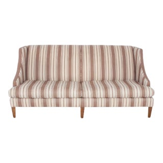 Lee Industries Sofa With Wood Legs For Sale