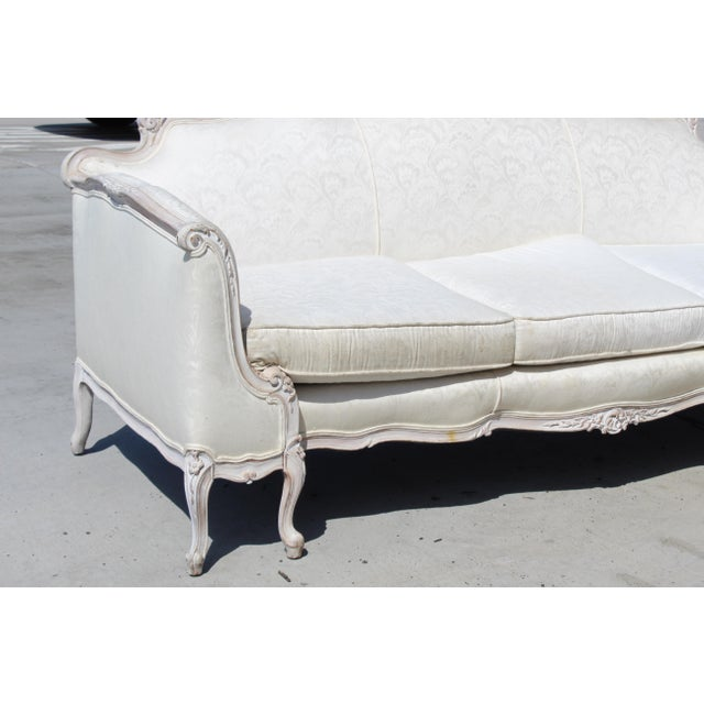 Louis XV Style Settee Early 20c. For Sale - Image 4 of 5