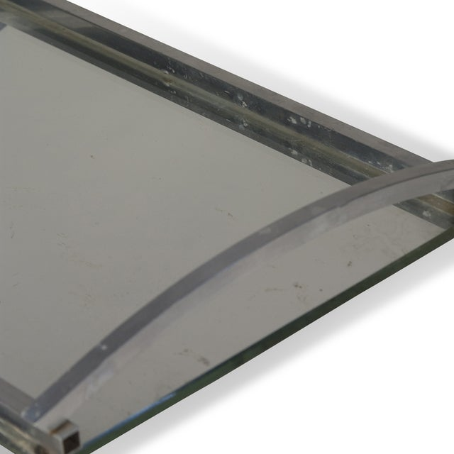1930s Matte Nickel Frame Serving Tray - Image 8 of 9