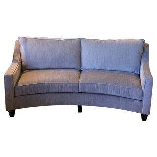 Custom Curved Gray Sofa For Sale