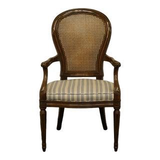 Henredon Furniture Italian Provincial Cane Back Arm Chair For Sale