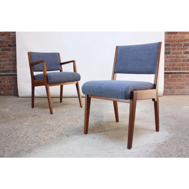 Set of Six Walnut Dining Chairs by Jens Risom - Image 11 of 11