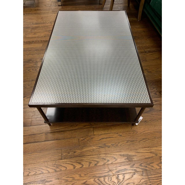 Contemporary Herringbone Coffee Table For Sale - Image 4 of 4