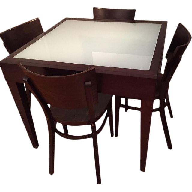 Spanna Extending Dining Table & Kyoto Chairs - Image 1 of 2