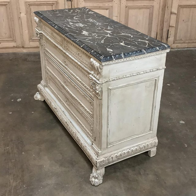 19th Century Italian Neoclassical Painted Commode For Sale - Image 11 of 12