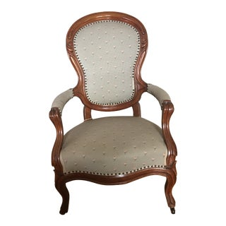 Antique Mahogany Parlor Chair For Sale