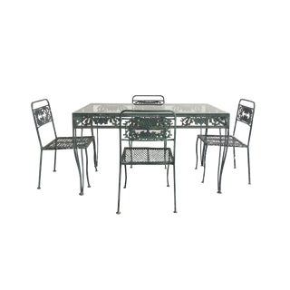 20th Century Art Nouveau Style Garden Set - 4 Chairs & Table For Sale