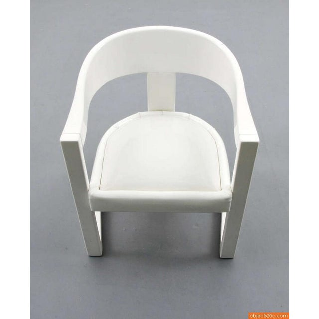 "Karl Springer 1980s Vintage Karl Springer ""Onassis"" Arm Chairs- Set of 4 For Sale - Image 4 of 10"