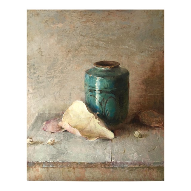 """Brown Contemporary Still Life """"Peace Piece"""" For Sale"""
