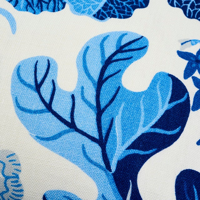 Schumacher X Josef Frank Exotic Butterfly Pillow in Marine For Sale In New York - Image 6 of 9