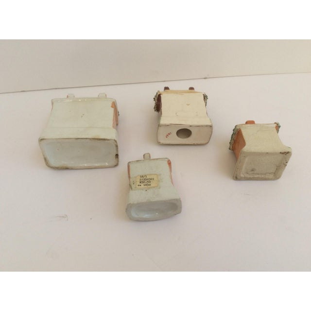 Ceramic Staffordshire House Banks - Set of 4 For Sale - Image 7 of 9