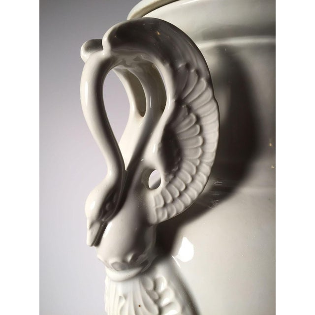 Pair of Large Limoges White Porcelain Table Lamps For Sale - Image 9 of 13