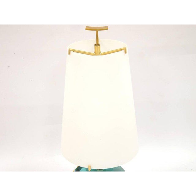 "Roberto Giulio Rida Pair of Lamps ""Diamante Blu"" by Roberto Giulio Rida For Sale - Image 4 of 7"