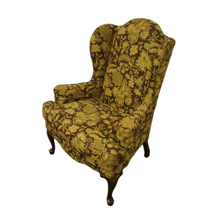 Ethan Allen Floral Upholstered Wingback Accent Arm Chair Preview