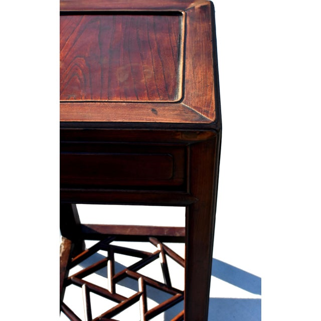 19th Century Chinese Antique Ming Side Table Lamp Table For Sale - Image 12 of 13