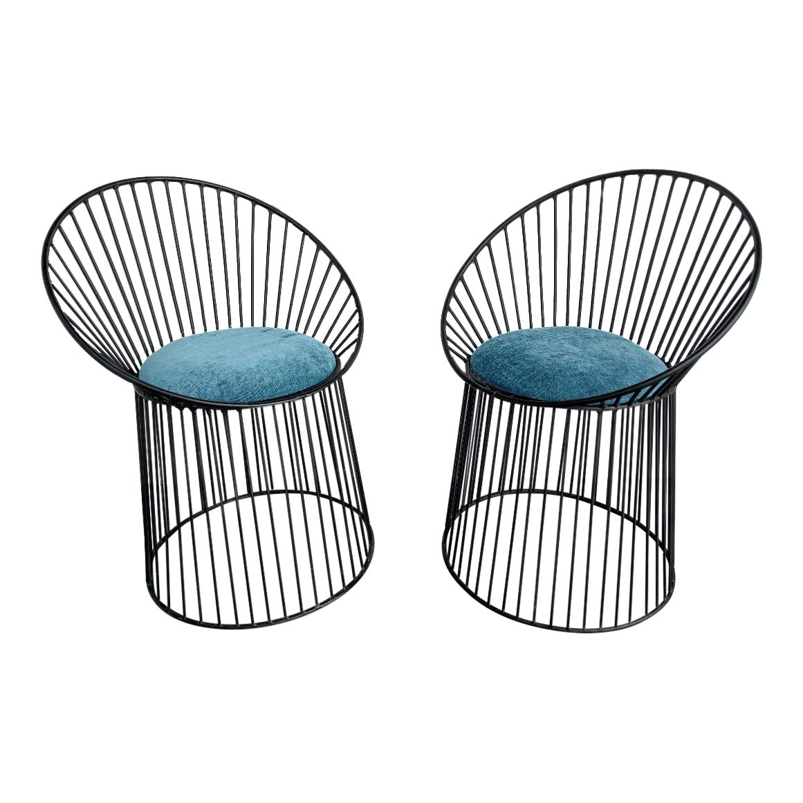 Astounding Platner Styled Metal Accent Chairs A Pair Gamerscity Chair Design For Home Gamerscityorg
