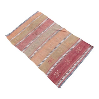 Vintage Muted Tone Color Kilim Rug - 3' 9'' x 2' 5''