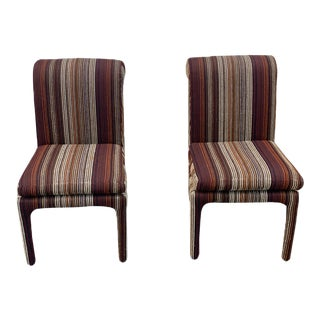 1970's Milo Baughman for Thayer Coggin Parsons Chairs - a Pair For Sale