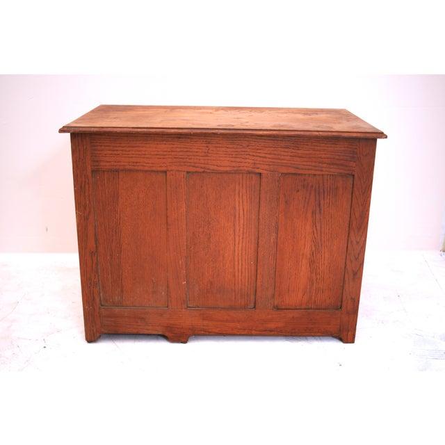 Small Oak Panel Desk - Image 4 of 5