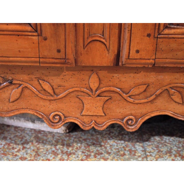 Metal 18th Century French Cherry Wood Buffet For Sale - Image 7 of 11