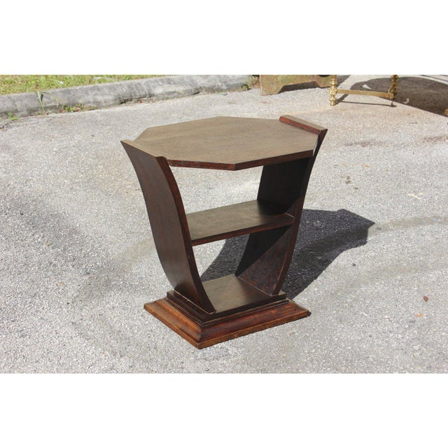 1940s Art Deco Macassar Ebony Tulip Coffee Table For Sale - Image 10 of 12