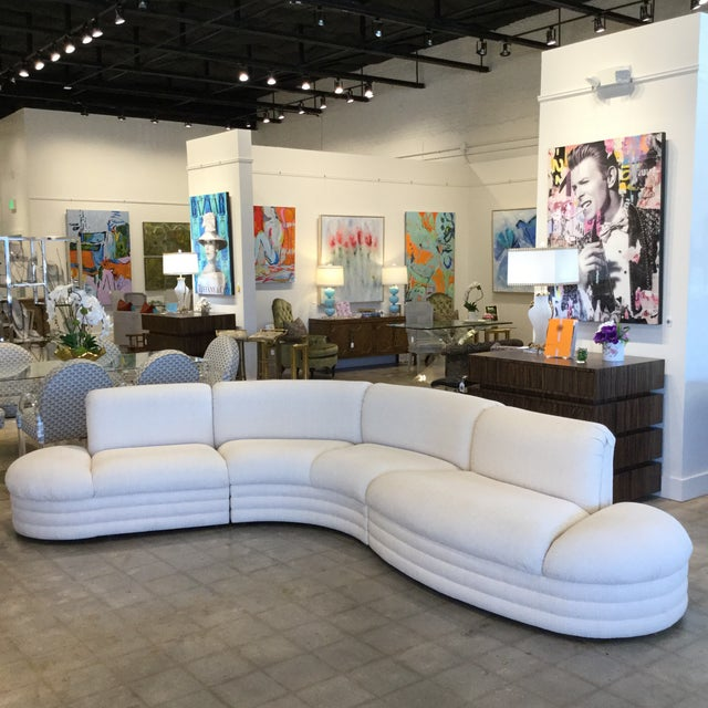 Mid-Century Modern Vintage 3 Piece Sectional For Sale - Image 3 of 9
