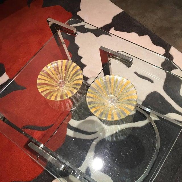 Signed Pair of Higgins Fused Modern Art Glass Bowls - Image 5 of 5