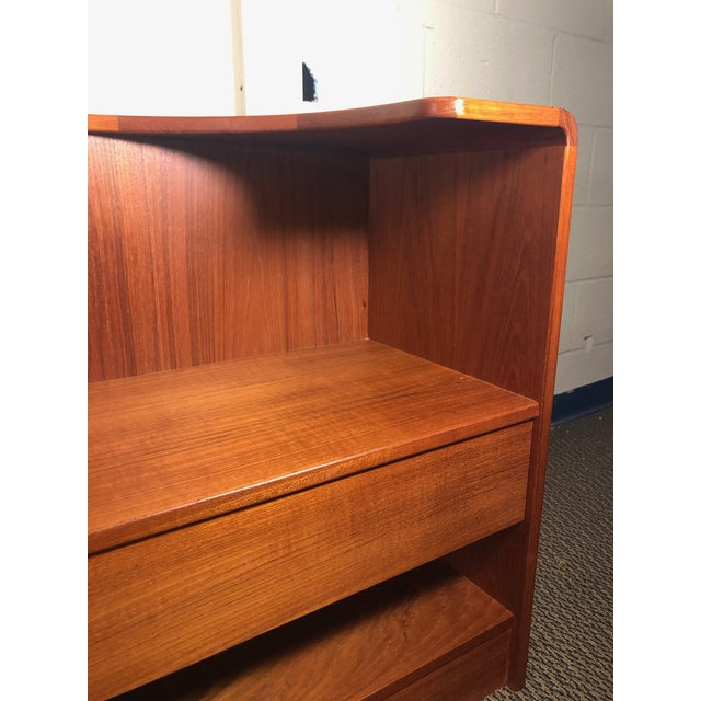 Midcentury Danish Teak Queen Size Headboard With Nightstands For Sale - Image 10 of 13