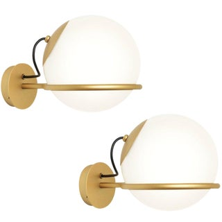 Mid-Century Modern Gino Sarfatti Wall Lamps - a Pair For Sale