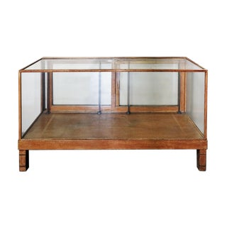 Mid-Century Modern Glass and Wood Store Display
