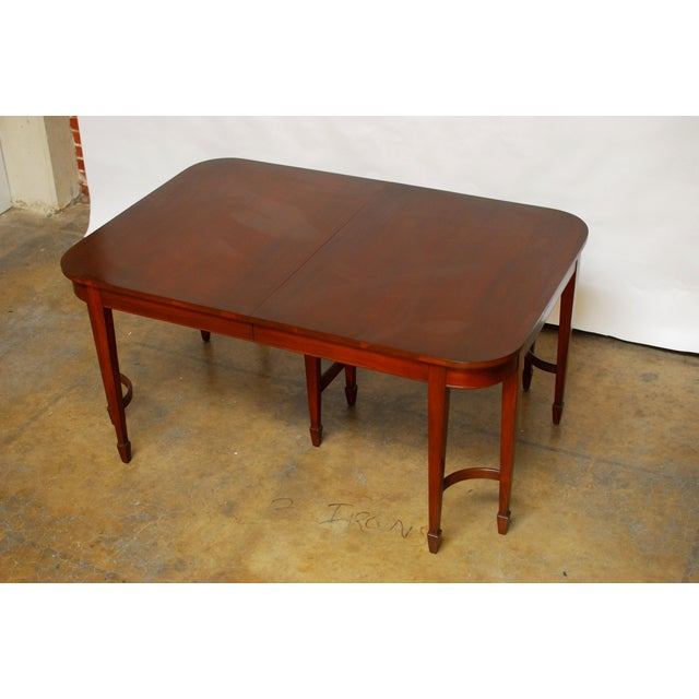Hepplewhite Federal Double Leg Dining Table - Image 4 of 7