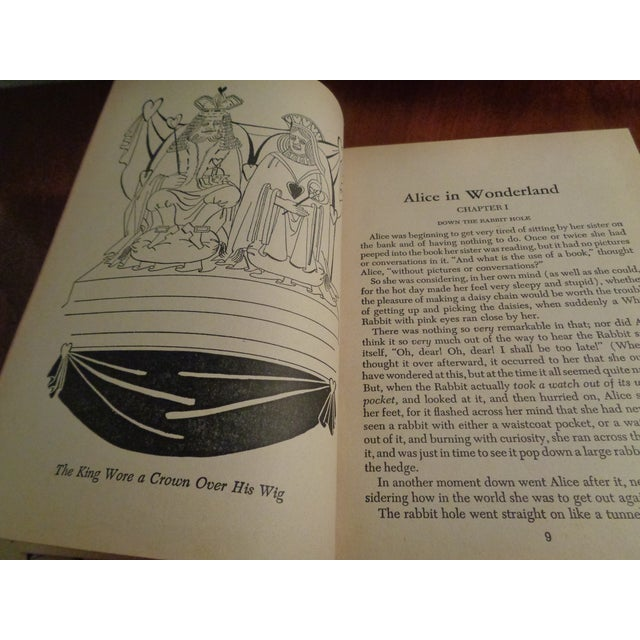 """1940's Early American """"Alice in Wonderland"""" by Lewis Carroll Book For Sale - Image 4 of 6"""