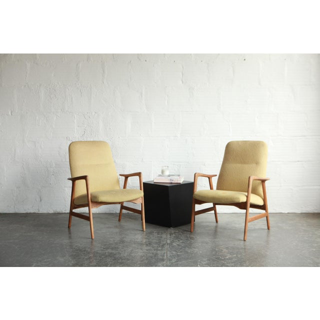 Mid 20th Century Vintage Mid Century Alf Svensson Highback Lounge Chairs- A Pair For Sale - Image 5 of 8