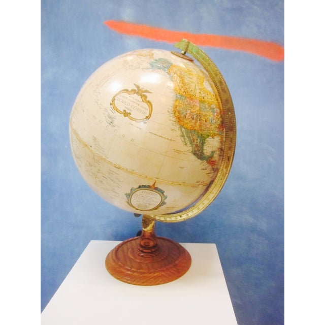 Vintage Old Fashioned Globe on Wood Base - Image 7 of 7